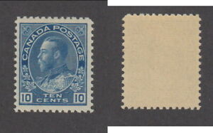 MNH Canada 10c Blue KGV Admiral Stamp Wet Printing #117 (Lot #20111)
