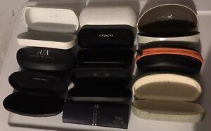 Lot Of 10 Glasses Case - Coach- G Armani- A/X-Stepper-NYS-Oakley-Kaenon