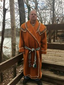 Wool Capote Blanket Coat SZ XL to XXL- Black Powder, Rendezvous, Mountain Man