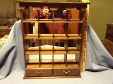Vintage Wood Wall Hanging Knick Knack Miniature Display Shelf Mirror Back