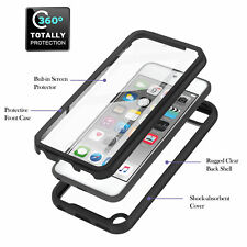 For Apple iPod Touch 5 6 7th Hybrid Acrylic Cover Case Build in Screen Protector