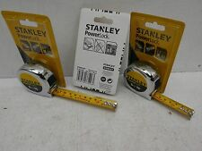 3 X STANLEY POWERLOCK 5M 16' TAPE MEASURES 0 33 553
