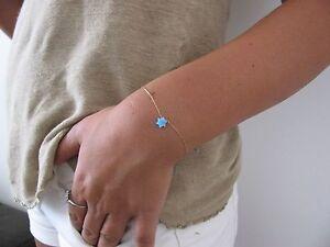 Star of David bracelet, bat mitzvah gift, Jewish jewelry, opal bracelet