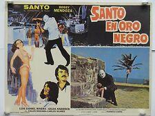 """SANTO EN ORO NEGRO """"el enmascarado de plata"""" fotobusta originale 1974"""