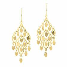 New MCS Jewelry 14 Karat Yellow Gold Chandelier Drop Earrings (40 mm) Pure 14K