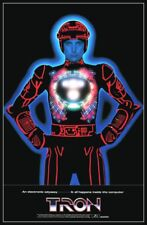 Tron 1982 Reproduction 24 x 34 Theater Promo Poster - Sci-Fi Video Computer Game