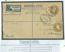 GB KGVI STATIONERY Cover Registered ERROR DOUBLE 5½d DIE RP54(G) 1945 RARE 359d