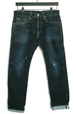 RRL RALPH LAUREN double RL USA slim fit distressed Japan selvedge denim jeans 30