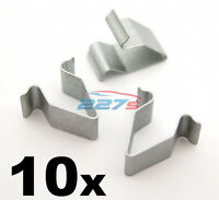 10x Audi Boot Tailgate Lining Metal Trim Panel Clips- Metal Interior Trim Clips
