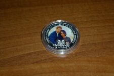 PRINCE HARRY & MEGHAN MARKLE SILVER PLATED WEDDING COLOUR COIN BRAND NEW MINT 3