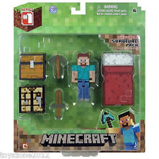 "16450 Minecraft 3"" STEVE Overworld Survival Pack Series #1 FACTORY SEALED"