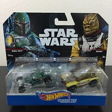 Hot Wheels BOBA FETT & BOSSK Star Wars Character Cars NEW Disney HTF 1:64 Scale
