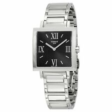 TISSOT HAPPY CHIC BLACK DIAL STAINLESS STEEL LADIES WATCH T034.309.11.053.00 NEW