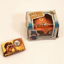 2 Plastic Toys Walks Wagon Wind Up And Tiny Camera Vintage