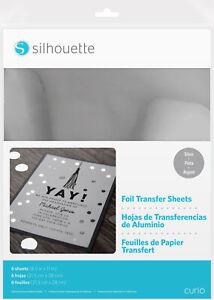 "Silhouette 8.5""X11"" Foil Transfer Sheets 6/Pkg-Silver, MEDIATRF-SVR"