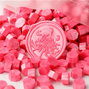 20Pcs Octagon Fire paint wax beads Sealed lacquer seal envelope decoration stamp