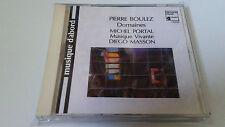 """PIERRE BOULEZ MICHEL PORTAL MUSIQUE VIVANTE """"DOMAINES"""" CD 2 TRACKS DIEGO MASSON"""