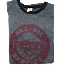 Mens XLARGE Stage 28 Disney CARS Gas Oil Service Graphic Grey T Tee Shirt
