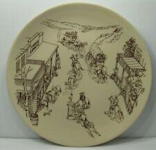 SWING WARE by Wellsville Western Scene Dinner Plate Vintage