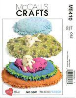 McCalls Crafts M5410 No Sew Pet Dog Cat Beds Fleece Mar Sewing Pattern UNCUT FF