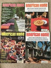 GREAT LOT OF 4 VINTAGE 1967/1968 AMERICAN HOME MAGAZINES, GREAT ADS!