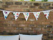 PVC GARDEN BUNTING FLORAL DESIGN 10FT APPROX  3MTRS