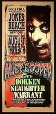 Alice Cooper Poster Dokken Warrant Jones Beach NY 1997 Signed