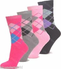 3 Pairs Ladies Argyle Design Thermal Socks Warm Winter Extra Thick Hiking Boot