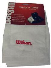 "Wilson Tri-Fold Towel (White, 16""x25"") Golf New"