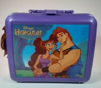 Hercules~Vintage Disney Lunch Box Purple Plastic Aladdin~Missing Thermos