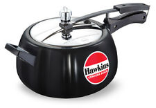 Hawkins Contura Black 5 Ltr Hard Anodised Pressure Cooker 5-7 Persons CB50