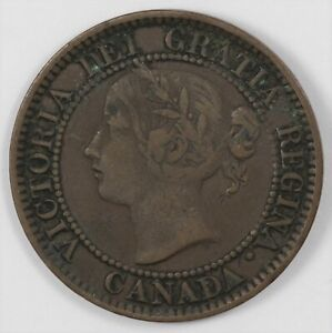 1859 Canada Victoria Large Cent Better Date