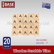 20x Wooden Alphabet Scrabble Tiles Letter A Scrapbooking Complete Handcraft