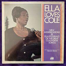ELLA FITZGERALD Loves Cole Porter LP ATLANTIC Vocal Jazz SHRINK Monarch AA NM