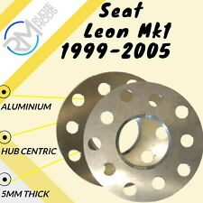 Seat Leon Mk1 1999-2005 Alloy Hubcentric 5mm Wheel Spacers 5x100 57.1 1 Pair