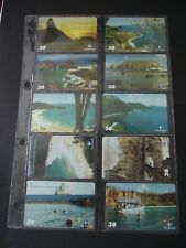2001 FERNANDO DE NORONHA LANDSCAPES Set of 10 Different Phone Cards from Brazil