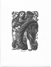 PETER LAZAROV: Exlibris für M. Neureiter; weiblicher Akt
