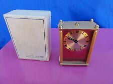 Rare Red LeCoultre Swiss Musical Alarm Clock 59/4 Le Bleu Danube in original box