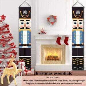 Outdoor Xmas Decor Soldier Model Nutcracker Banners Christmas Home Ornament