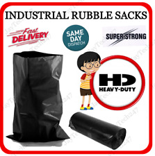 More details for heavy duty rubble sacks strong refuse bags bin liners builders waste rubbish