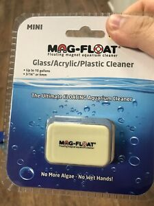 Mag-Float Ultimate Floating Magnet Aquarium Glass Cleaner Mini Up To 10 Gallons