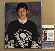 Evgeni MALKIN Extremely RARE AUTO Penguins Draft Day Photo Signed #17 JSA COA