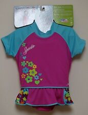 New! Speedo Kids UV Flotation Suit Begin to Swim Level 2 Pink Girls M/L