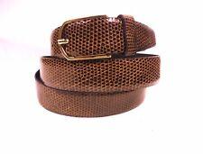 Cintura donna Vera lucertola alta qualità marrone SOTTOCOSTO-Belt lizard woman