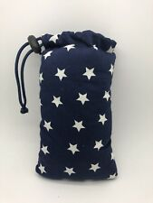 """Handmade 3"""" X 6"""" Padded Pipe Bag / Pouch / Glasses Case / 005 Star"""