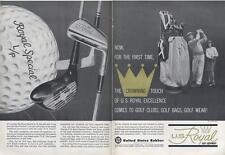 1962 U.S. Royal PRINT AD Vintage Golf  Ball and Bags, Clubs, Wear