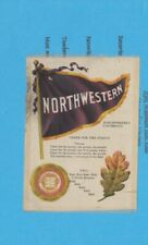 New listing 1910s S23 tobacco silk Northwestern University Mascot college cheer silk 2