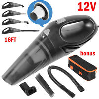 Car Vacuum Cleaner Wet Dry 120W Mini Handheld Hand Held For Auto Dust Duster 12V