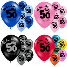 10 Multi Coloured 60th Birthday Party Printed Latex Balloons