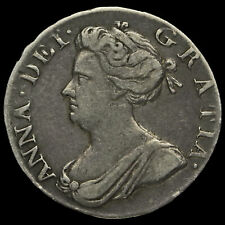 More details for 1706 queen anne early milled silver maundy fourpence